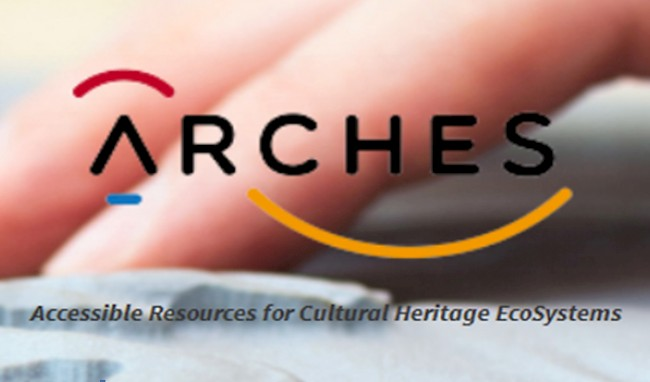 Logo of the Horizon2020 projects ARCHES - Accessible Ressources for Cultural Heritage EcoSystems